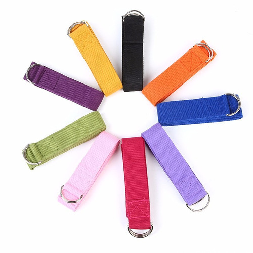 cinta strap cinturon para yoga de algodon (pack 10 pzas)