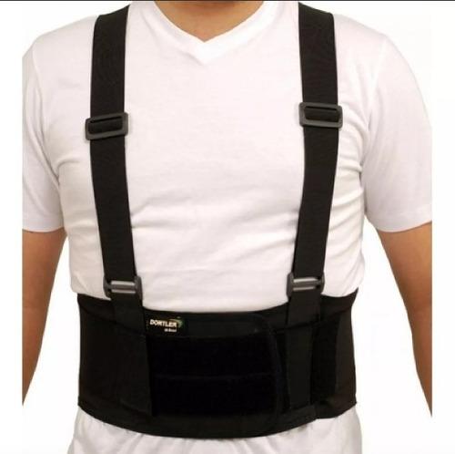 cinta suporte abdominal lombar c/ suspensório d-411