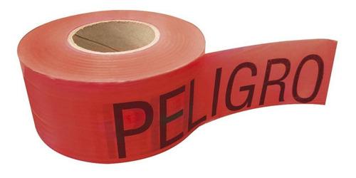 cinta surtek 137301 roja peligro c/304 mts