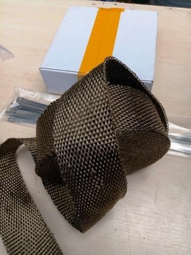 cinta termica dorada aislante calor headders escape basalto