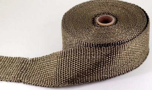 cinta termica escape fibra vidrio titanium 10m + 4 precintos