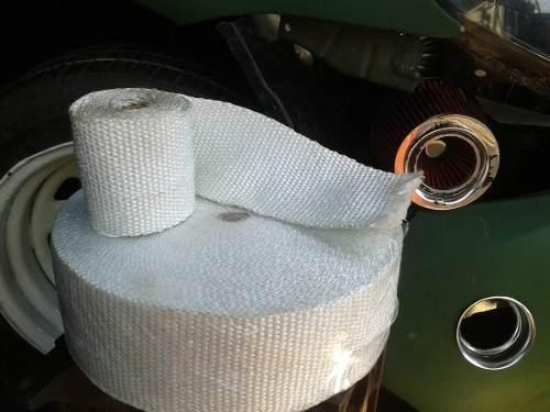 cinta termica para heders y escapes para carros y motos