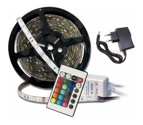 cinta tira 300 led 5mt rgb control luces