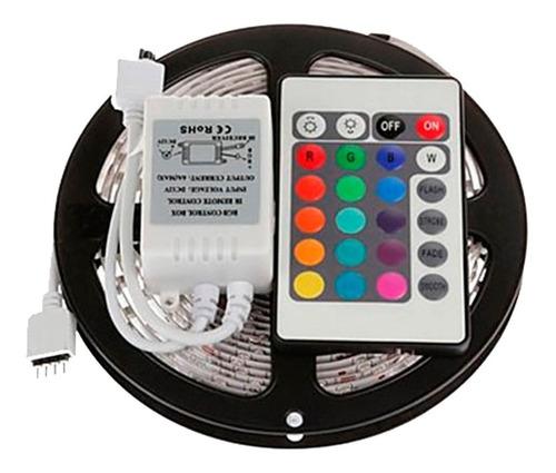 cinta tira 300 led 5mt rgb control remoto 3528 siliconada
