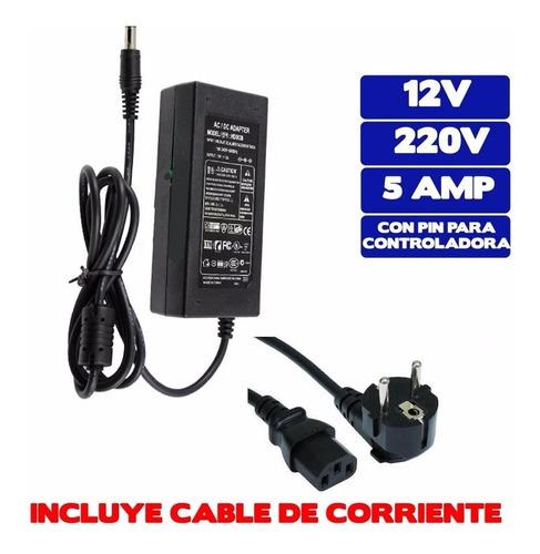 cinta tira 300 led 5mt rgb control transformador 79550 gocy