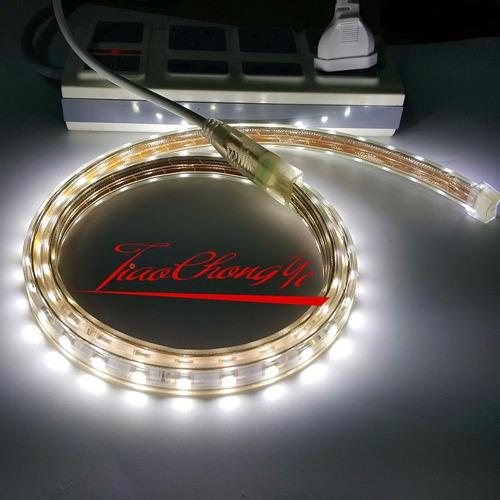 cinta tira led 5050 de 10 metros directo a corriente 220 v