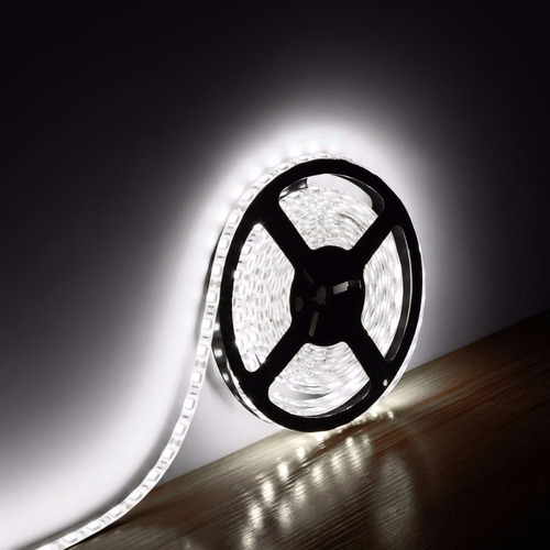 cinta tira led color blanco intenso + kit completo -delivery