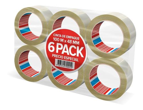 cinta transparente tesa 100 m x 48 mm empaque x 6 unidades