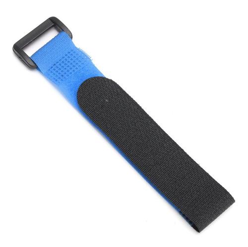 cinta velcro para sujetar baterías 30 cm largo color azul