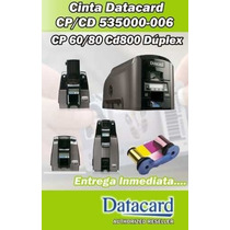 Cinta Ribbon Datacard Ymckt-kt 535000-006 Series Cp/cd