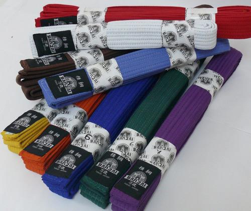 cintas, cinturon de grado, banzai, artes marciales, karate
