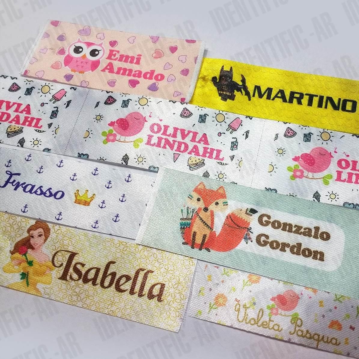 Cintas Con Nombre Etiquetas Escolares Para Coser X 50 - $ 150,00 en ...