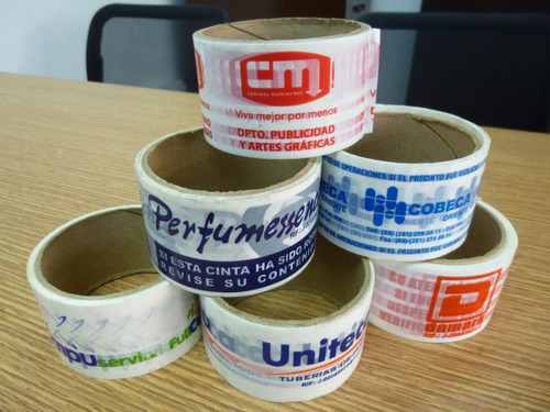 cintas de embalaje impresas (personalizada 90 mts)
