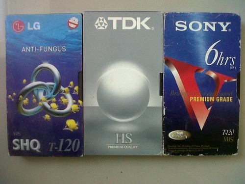 cintas de vhs marca lg - tdk - sony