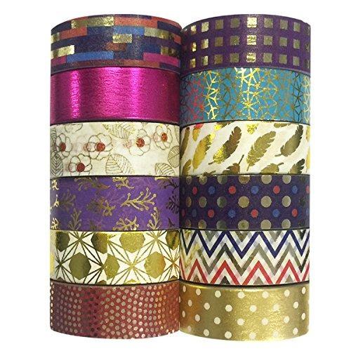 cintas decorativas adhesivas allydrew washi tapes, juego...