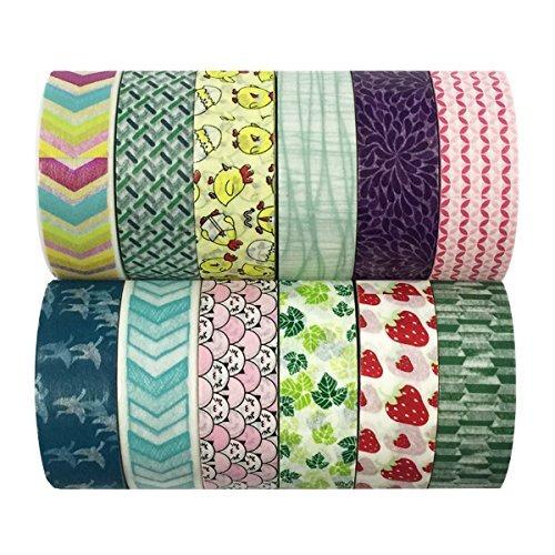 cintas decorativas adhesivas allydrew washi tapes, set de...