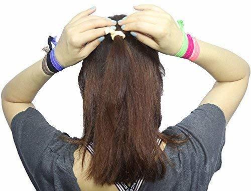 cintas elásticas para el cabello, sin pliegues ouchless rib