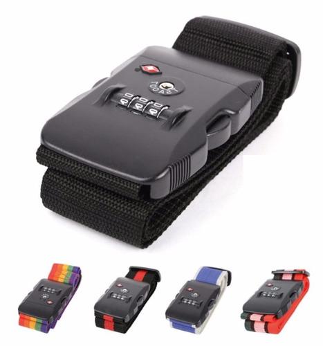 cintas fajas candado con tsa 3 digitos valijas bolsos