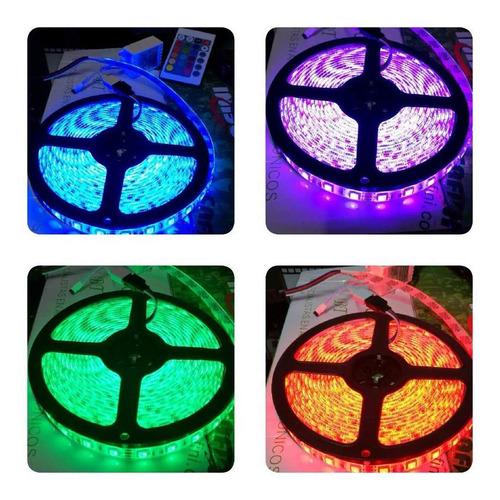 cintas luces led d 5 metros d 7 colores + adaptor
