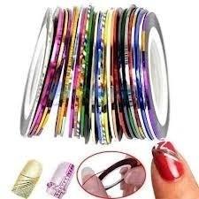 cintas metalizadas para decorar tus uñas,3x$100!!!