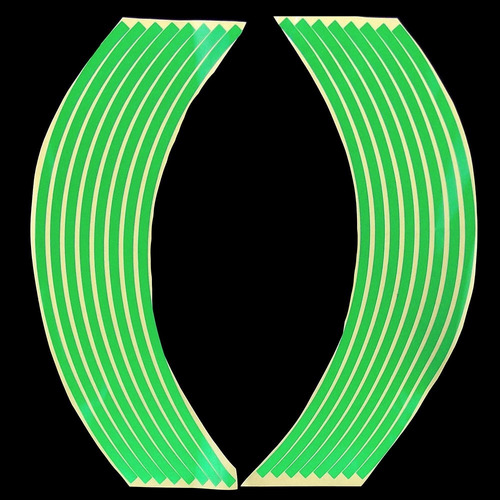 cintas para rines reflectiva - carro - camioneta - tuning