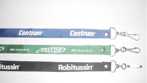 cintas porta carnet personalizadas en serigrafia