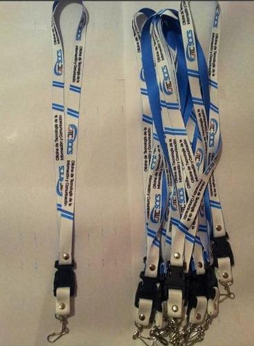cintas portacarnets sublimadas, landyars, llaveros y etiquet
