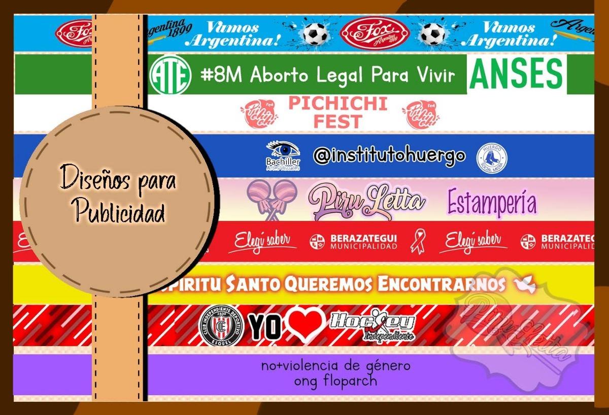 684efab0b4ef Cintas Pulseras De Tela 2.5cm De Ancho X 30 Cm De L 100u