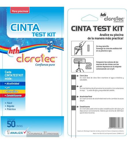 cintas reactivas medir ph cloro clorotec cloro 50 unidades