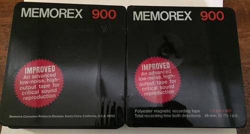 cintas reel memorex 900 recording tape nuevas