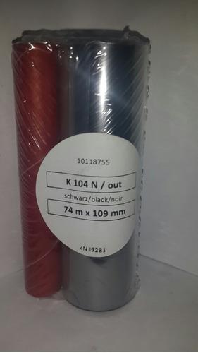 cintas ribbons 110x74  para impresoras gc420 zebra genéricas