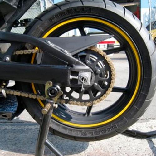 cintas rines reflectivas calcomanias motos cauchos