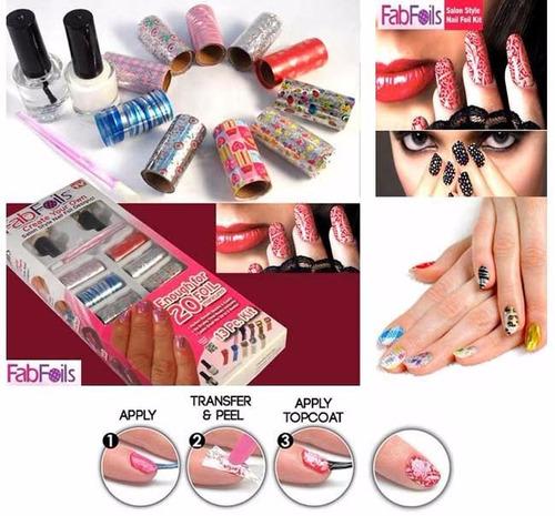 cintas transfer nail foil espejo decoración uñas fabfoils
