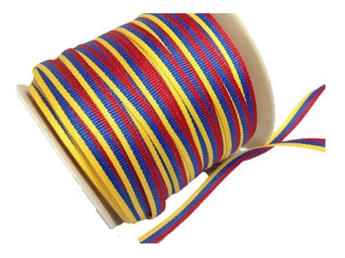 cintas tricolor (rollo 100mtrs)