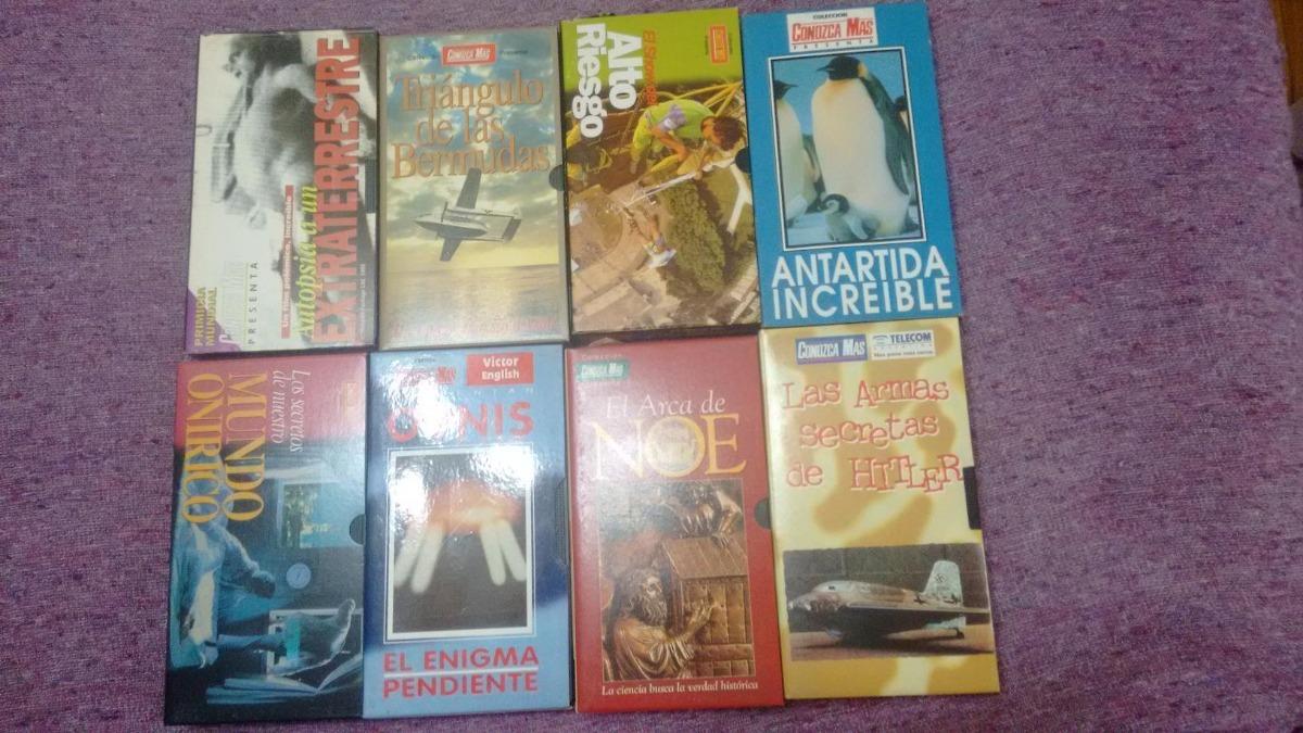 3b4de7eae Cintas Vhs Colección Revista Conozca Mas Son 16 Cassettes -   800