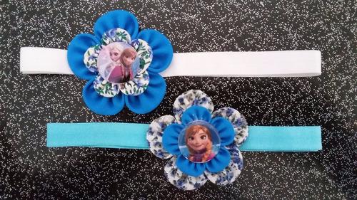 cintillo elástico para bebes - niñas - decorado frozen