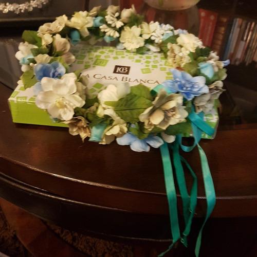 cintillo flores novia