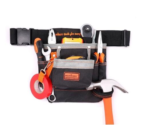 cinto bolsa de ferramentas eletricista cartucheira 8 bolsos