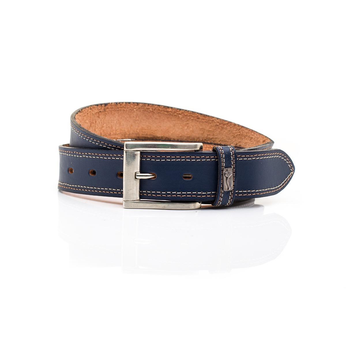 Cinto Cinturon Hombre Cuero Azul Pato Pampa - $ 599,00 en Mercado Libre