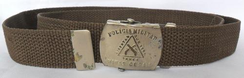 cinto com fivela antigo polícia militar minas gerais cole 1a