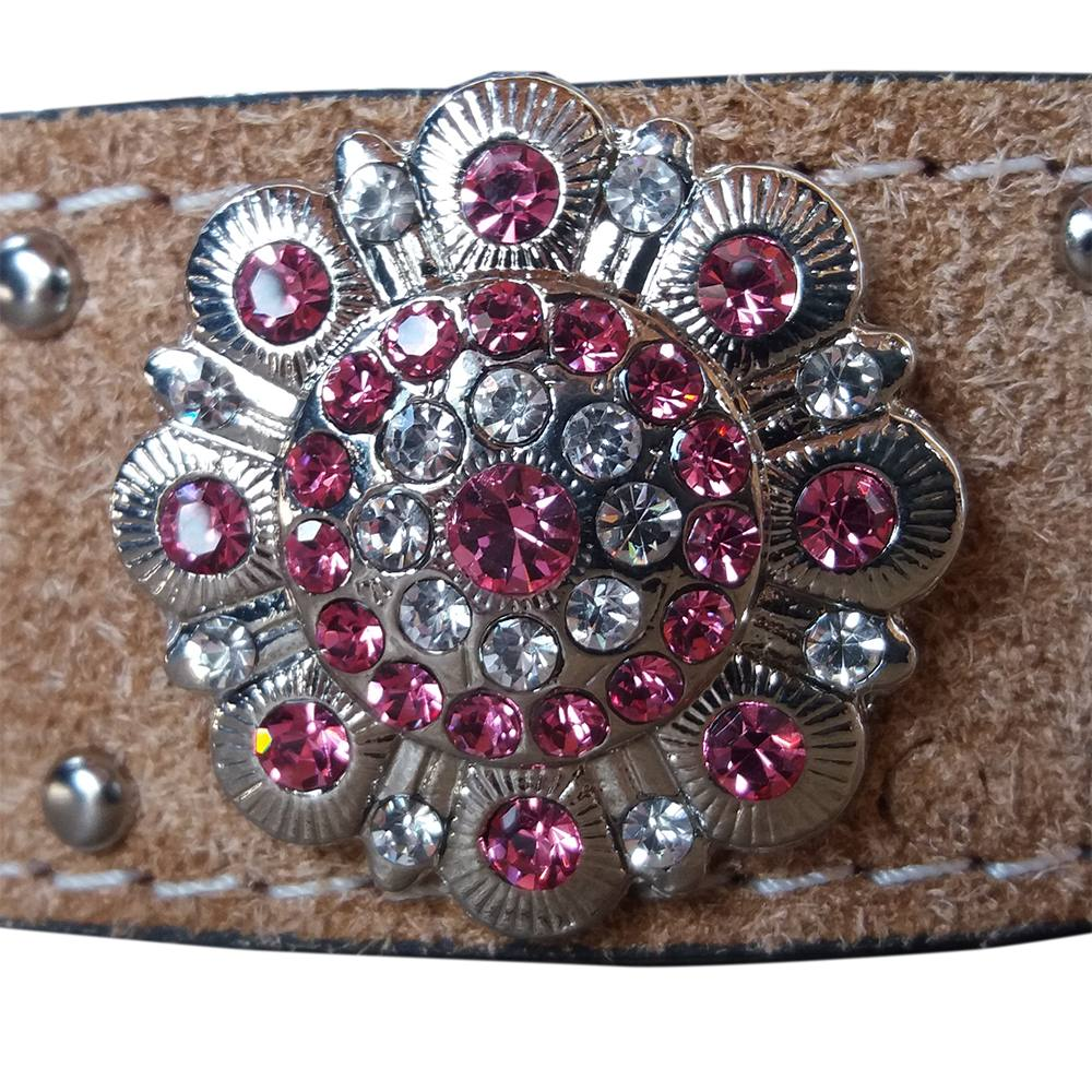 cinto country couro natural strass rosa arizona belts 7105. Carregando zoom. cd94efa8573