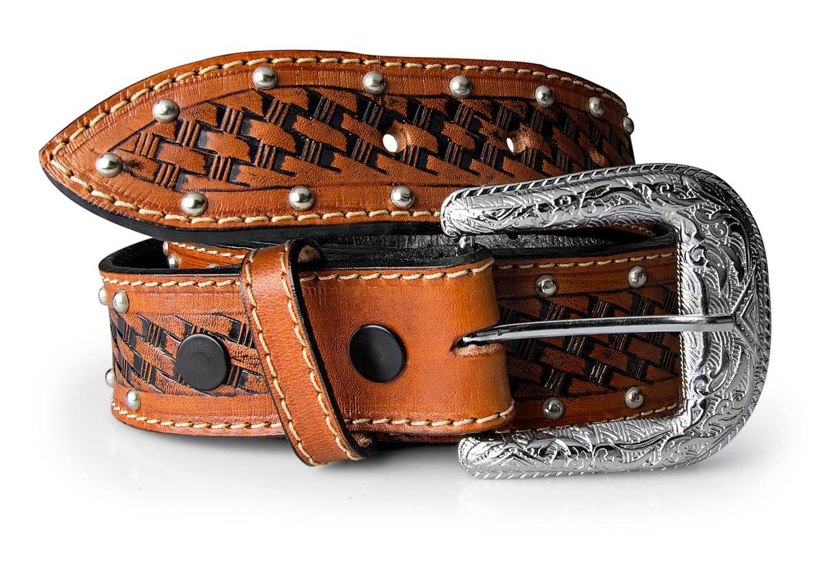 cinto country feminino rodeio texano couro legítimo. Carregando zoom. 4112f6b0b7e