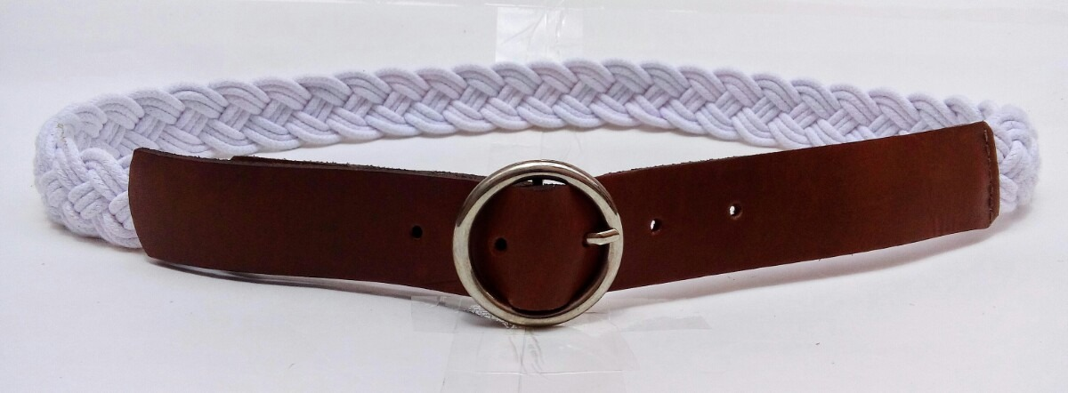 097b17776 cinto feminino couro legítimo e trança algodão fivela metal. Carregando  zoom.