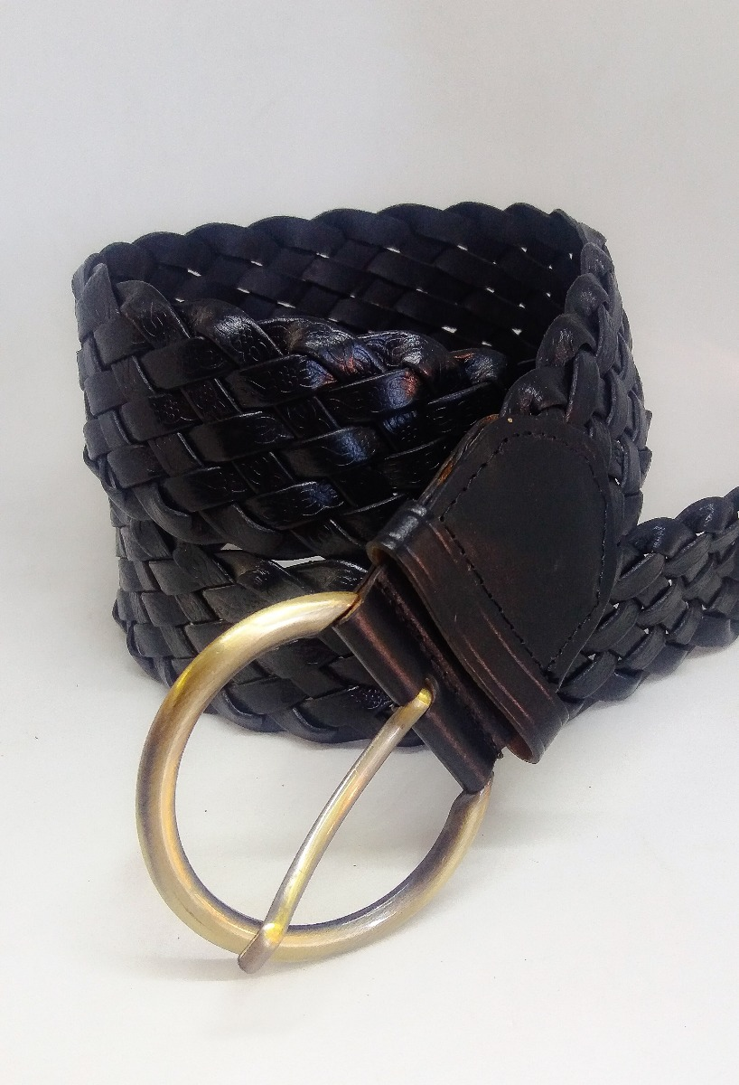 36b496751 cinto feminino trançado couro legítimo preto. Carregando zoom.