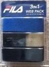 cinto fila 3in1 web pack tamanho até 42 preto, azul e bege