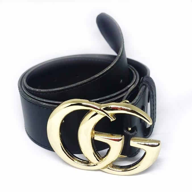 1ff36e6d3a6ef Cinto Gucci Fivela Dourada Feminino Sem Costura Promoção - R  36