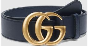 85d0b05ec4 Cinto Gucci Original Couro Fivela Double G 115cm Masculino