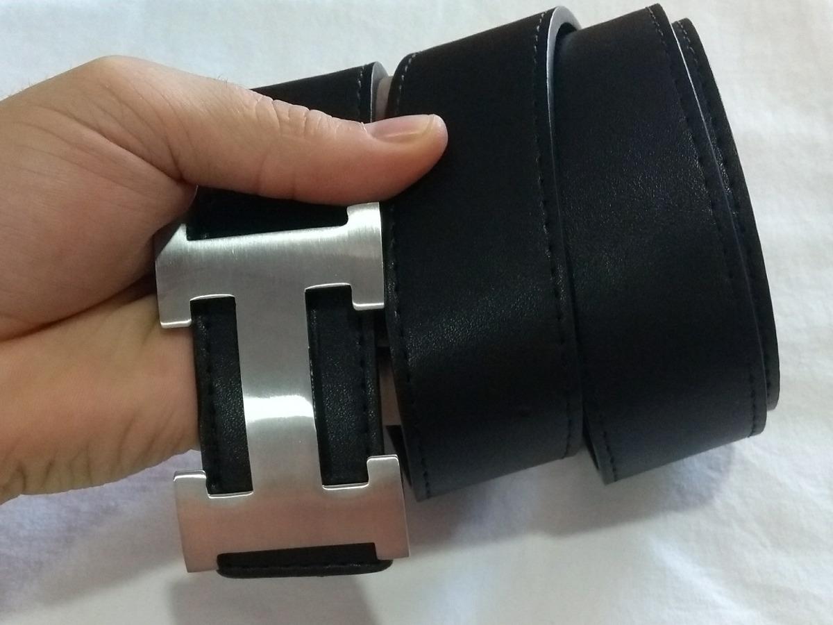 6bbdeeae0d4 cinto hermes couro preto legítimo letra h prata unissex. Carregando zoom.