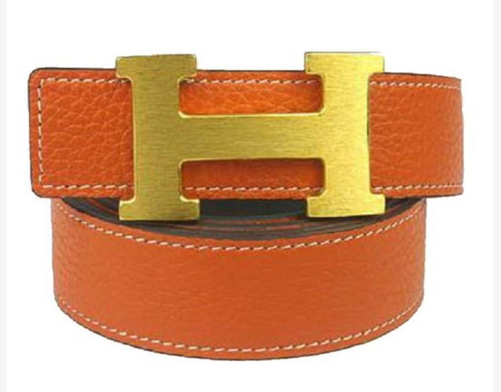 8d9d1fe101a Cinto Hermes Feminino Couro Legítimo Promoção Letra H Duplo
