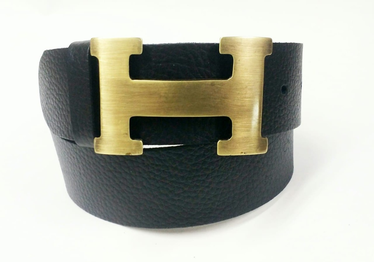 7476462cb84 Cinto Hermes Fivela Ouro Envelhecido De Couro Legítimo